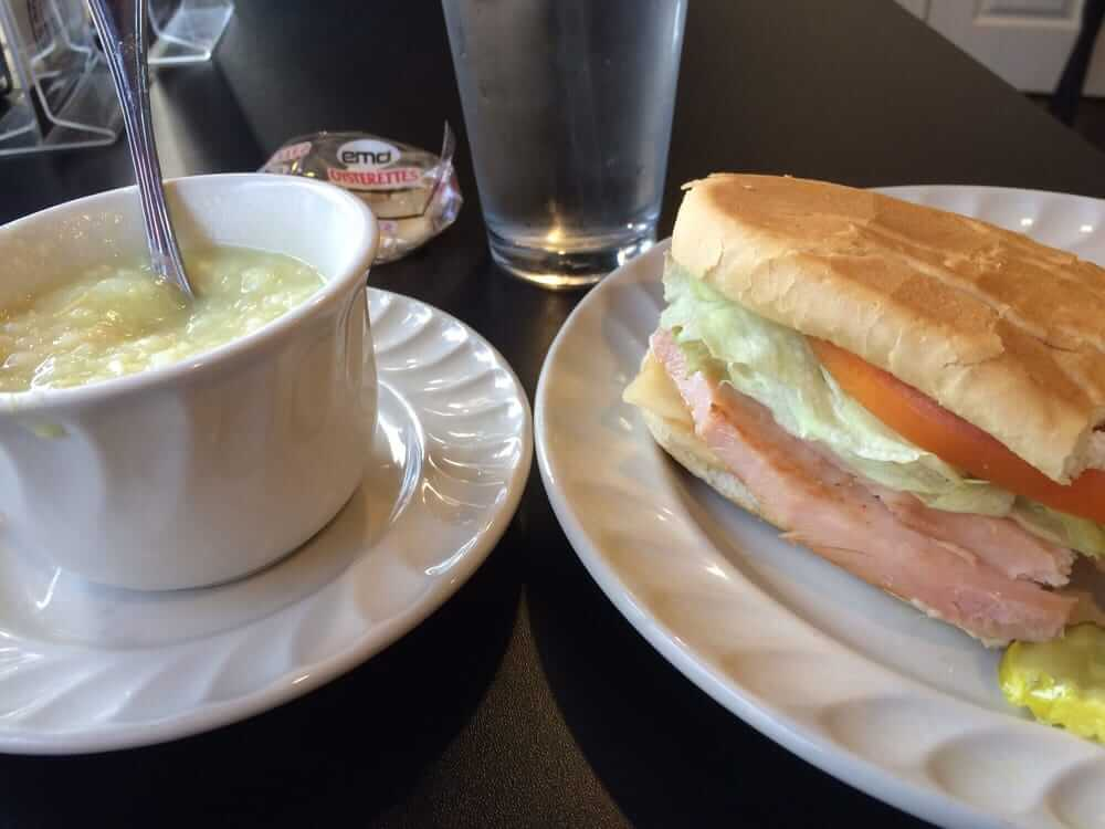 Get your soup and sandwich for lunch at Mt Clemens Grill, in Mt Clemens, MI.